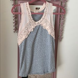 Pink and grey JCREW tank